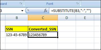 Substitute() Function